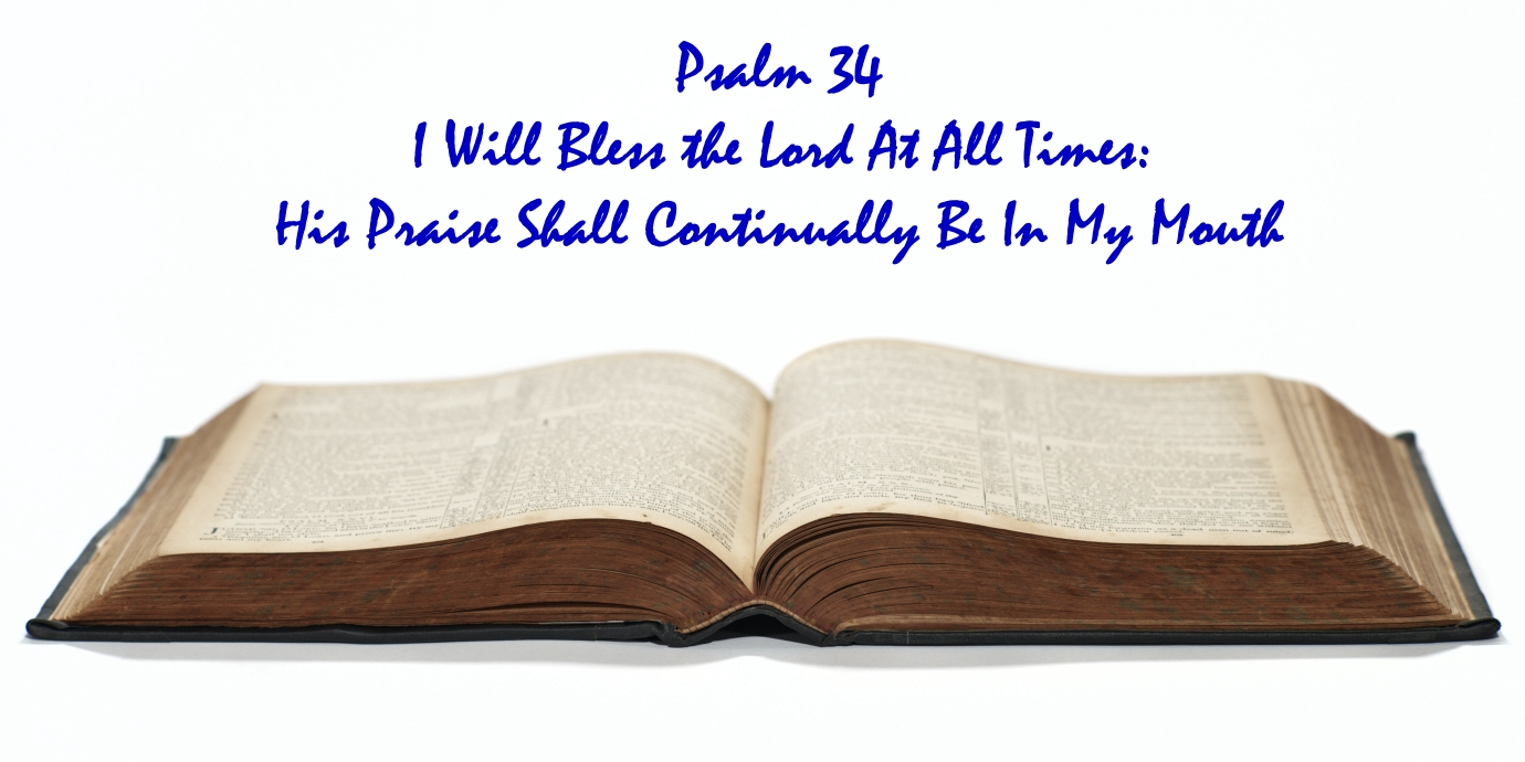 psalm 34 - praise God always